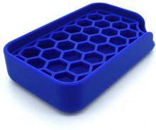Saippuapidike, jossa on kaksi osaa irrotettava pestävä sininen