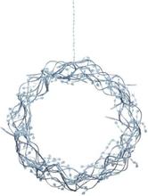 Markslöjd Libra dekorasjonskrans, 35 cm, 30 LED, sølv
