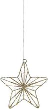 Markslöjd Elise pendelstjerne, 24 cm, timer, batteri, gull