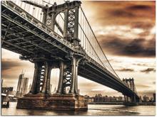 Canvastavla Bridge - 100x75 cm