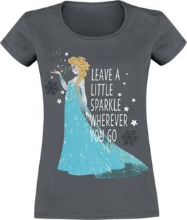 Frozen - Elsa - Leave A Sparkle -T-skjorte - grå