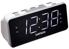 Klockradio Lenco CR-18 Vit / Stora siffror