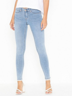 Gina Tricot Skinny low waist superstretch jeans Skinny fit Lyseblå