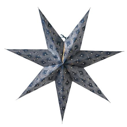 Silvia joulutähti 60 cm sininen-hopea