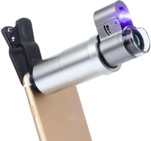 APEXEL APL-200XM Universal 200x Zoom Microscope Magnifier Macro Lens for iPhone
