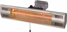 Sunred vægophængt varmeapparat Vigo 1500 W guldrør sølv