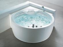 Hjørnebadekar med massage Hvid Milano II