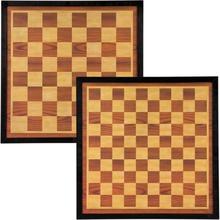 Abbey Game skak- og dambræt 41 x 41 cm træ brun og beige