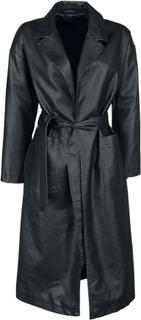 Forplay - New York Oversize PU Coat - Rockar - svart