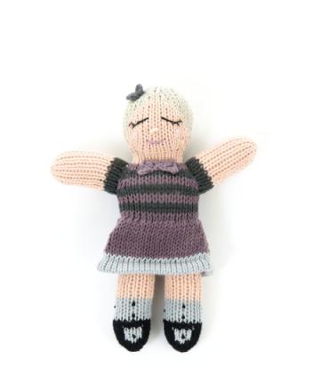 Smallstuff - Knitted Doll, Rattle - Julie