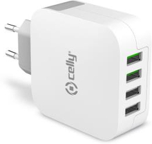 Celly USB-laddare 4xUSB 4,8A (24W)