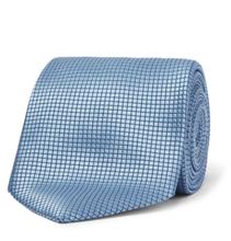 8cm Textured-silk Tie - Blue