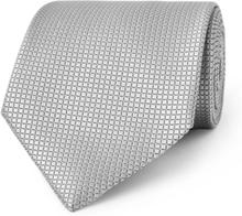 8cm Textured-silk Tie - Gray