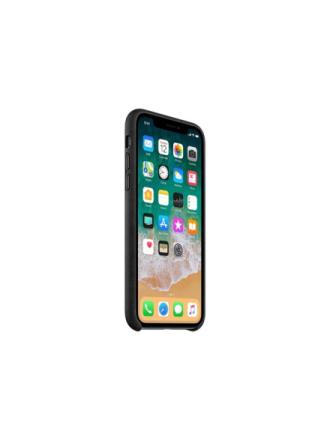 iPhone X Leather Case - Black