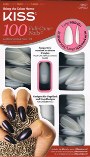 Kiss 100 Nails Long Stiletto/lösnaglar