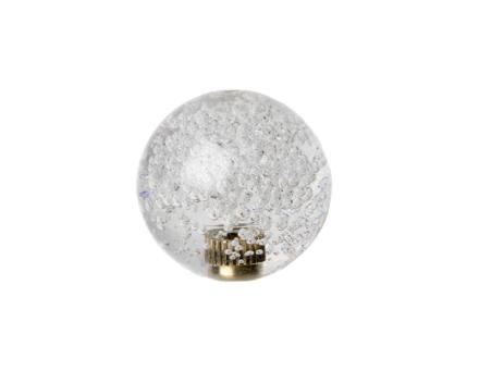 Crystal Ball Top med Bubblor - Vit