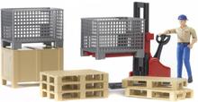 Bruder Logistikset med Palltruck och Figur 62200