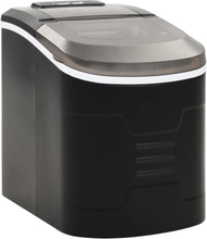 vidaXL Ismaskin 2,4 L 15 kg / 24 tim svart
