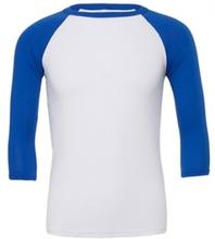 Unisex 3/4 Sleeve Baseball Tee White/True Royal