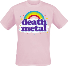 Goodie Two Sleeves - Death Metal Rainbow -T-skjorte - rosa