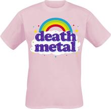 Goodie Two Sleeves - Death Metal Rainbow -T-skjorte - rosa