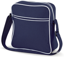Retro Flight Bag French Navy/White