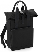 Twin Handle Roll-Top Backpack Black