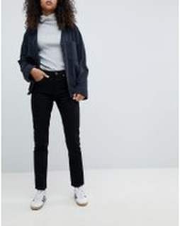 Weekday Seattle high waist mom jeans with organic cotton in black - Black