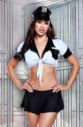 Baci Lingerie 4-Piece Police Uniform One Size