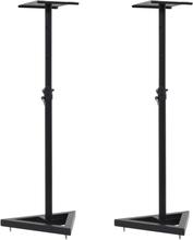 vidaXL Högtalarstativ för studio 2 st svart stål