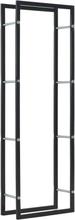 vidaXL Vedställ svart 50x20x150 cm stål