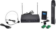 vidaXL Mottagare med 1 Trådlös Mikrofon och 1 Trådöst Headset VHF