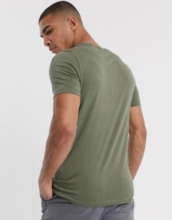 Jack & Jones essentials script logo t-shirt-Green