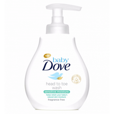 Dove Baby Kopf bis Fuß Baby Duschgel Sensitiv Parfümfrei 200 ml