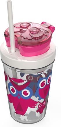 Contigo Kids Snack Becher Eule Pink 350 ml