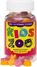 Kids Zoo Kalsiumi + D Nalle 60 kpl