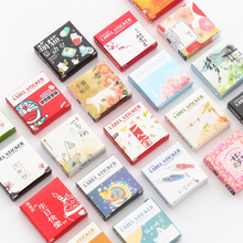 40 pcs/pack Cute Creative Box Package Decorative Sticker Set Diary Album Label Sticker DIY Stationery Stickers Escolar Papelaria