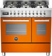 Bertazzoni PRO906 Gasspis 90 cm, 2 ugnar, 6 brännare, Orange