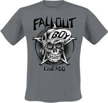 Fall Out Boy - Skate Skull -T-skjorte - koksgrå