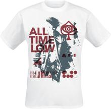 All Time Low - Heart Ache Glitch -T-skjorte - hvit