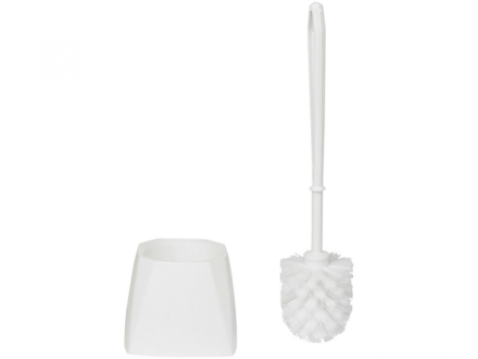 Toiletbørste Vikan hvid m/skål 5045