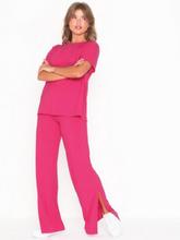 NLY Trend Rib Slit Tee Set Jumpsuits