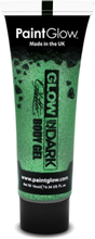 Glow in the Dark glitter gelé for face and krop Grön