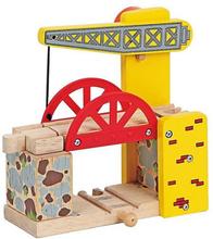 Houten trein - Hefbrug geel