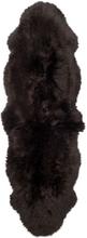 Gently långhårigt fårskinn 2-set - 180x60 cm - Mörkbrun
