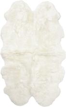 Gently långhårigt fårskinn 4-set - 180x120 cm - Vit