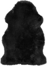 Gently långhårigt fårskinn - 95-100x60 cm - Svart