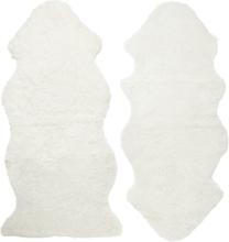 Curly fårskinn - 135x55 cm - Vit
