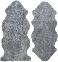 Curly fårskinn - 135x55 cm - Silvergrå