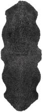 Curly fårskinn - 180x60 cm - Mörkgrå